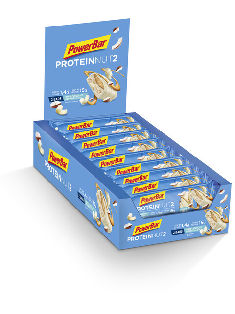 PowerBar Protein Nut2 - Nutrition sport - Milk White Chocolate Coconut 18 x 2 x 22,5g